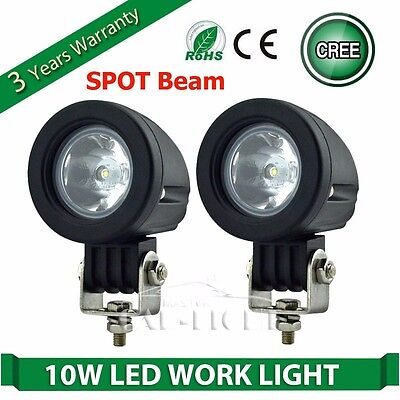 """2pcs 2"""" 10W OFFROAD CREE LED WORK LIGHT BAR SPOT MOTORCYCLE DRIVING LAMP 4WD UTE"""