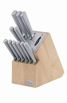 NEW Wiltshire Premium Stainless Steel 12 Piece Knife Block Set with Sharpener