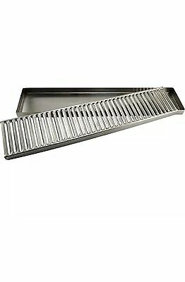 """Countertop Drip Tray - 19"""" - Stainless Steel - No Drain - Bar Draft Beer Spill"""