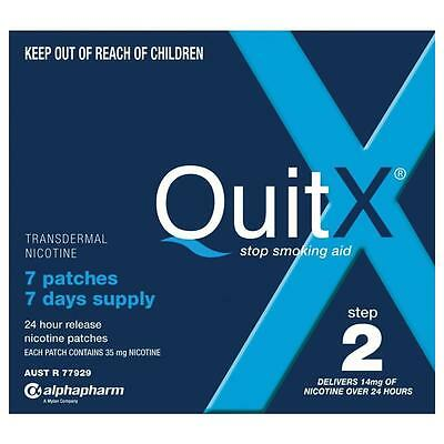 QuitX Patches Step 2 14MG 7 Stop Smoking Aids