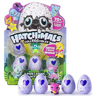 Hatchimals CollEGGtibles (Collectibles) 4  Pack + Bonus Toy - AusPost