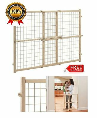 Position And Lock Mount Wood Gate Tall Pressure Baby Safety Pet Child Dog Door