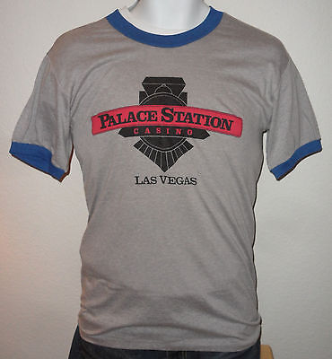 Original VINTAGE 1980s LAS VEGAS PALACE STATION CASINO HOTEL WINNER T SHIRT XL