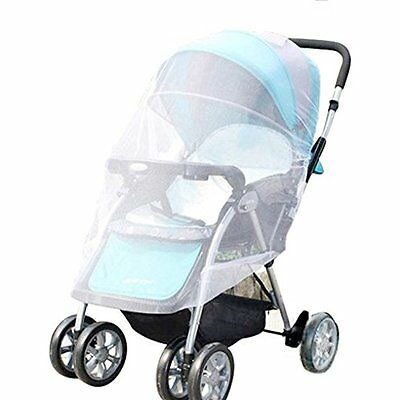 White Infants Baby Stroller Pushchair Mosquito Insect Net Safe Mesh Buggy Crib