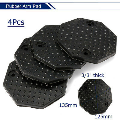 4pcs/set 135mm Black Rubber Arm Octagon Pad kit for Challenger Lift 10mm Thick