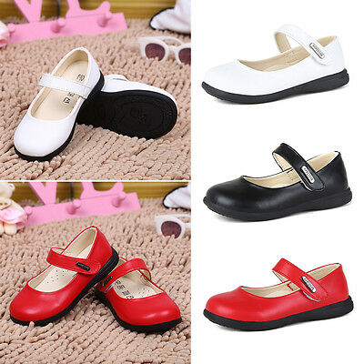 New Toddler Baby Girl Shoes kids Mary Jane flats dress Genuine Leather shoes
