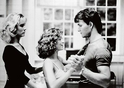Dirty Dancing Patrick Swayze Lesson BW Póster