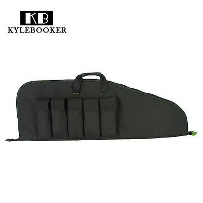 """38"""" Rifle Tactical Hunting Military Gun Black Soft Padded Case Backpack"""