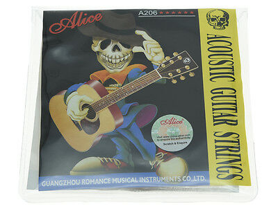 Alice Set Stainless Steel Folk Acoustic Guitar Strings 1st-6th (.011-.052)