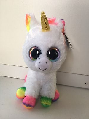 Ty: Beanie Boo Genuine Pixy Unicorn Rainbow Plush Soft Toy