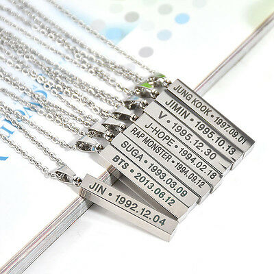 BTS Bangtan Boys Album Necklace K-POP Jewelry Pendants Chain Gifts Women Men New