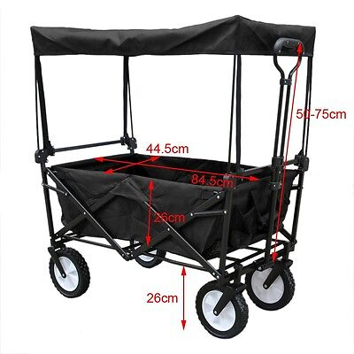 Garden Canopy Hand Push Camping DIY Cart Trolley Utility Wheelbarrow Trailer AU