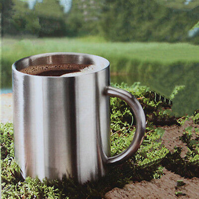 Metal Coffee Mug Double Wall Insulated Tea Beer Cup With Handle Home Product