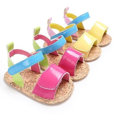 Newborn Baby Girls Summer Sandals Shoes Toddler PU Leather Princess Shoes Casual