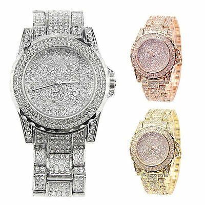 Luxury Ladies Bling Watches Fashion Diamond Rhinestone Wristwatch Quartz Watch