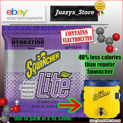 Sqwincher® Lite Naturally Sweetened Grape 11L pack for Bulk coolers