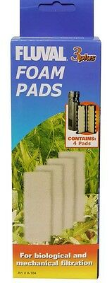 Fluval Filter Foam Pads 3+ Plus - 4 In Pack. For Aquariums B9