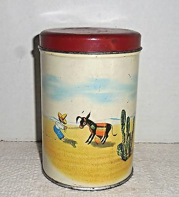 Antique Old Reliable Coffee Tin Litho Can Dayton Spice Mills 1947