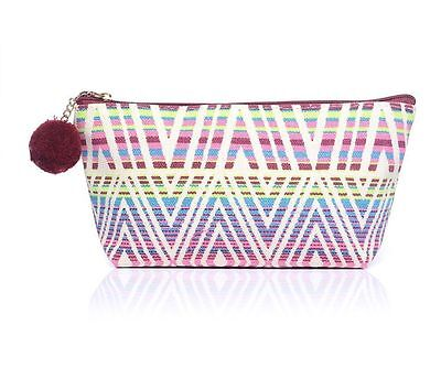 Aztec Print Make-up Bag Vintage Print Cosmetic Travel Bag Handbag Toiletry