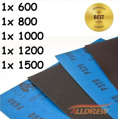 WET AND DRY SANDPAPER MIXED Assorted GRIT 2 of EACH - 1000 2000 3000 5000 7000