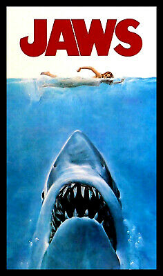 Jaws Movies Poster FRIDGE MAGNET 11 x 17 Large Magnetic Canvas Print