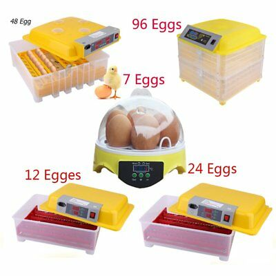 Fully Automatic Digital Egg Incubator 7,12,24,48,96 Egg Poultry Duck Hatcher SA