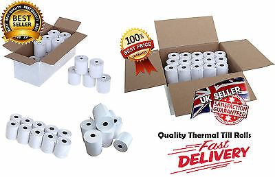 57x44mm THERMAL PAPER ROLLS- MACHINE TILL CREDIT CARD,PDQ CASH REGISTER RECEIPT