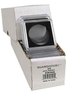 25 - Guardhouse 2x2 Tetra Snaplock Coin Holders for Silver Round 39mm