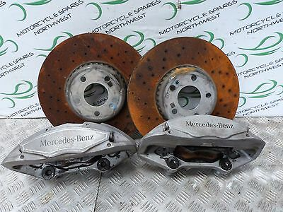 MERCEDES W205 FRONT DISCS AND CALIPERS OFF C250 AMG LINE 2015 340mm DISCS