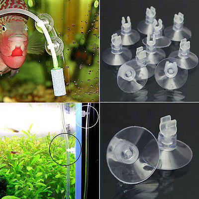 Wholesale 10pcs Aquarium Fish Tank Sucker Suction Cup 4mm Pipe Hose Tube Holder