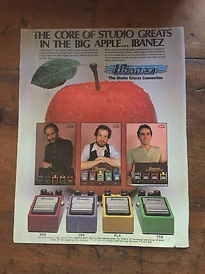 1982 Ibanez guitar Effects ad 8 x 11 advertisement print