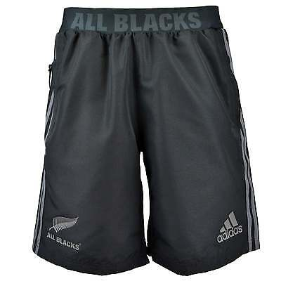 Adidas New Zealand All Blacks Woven  Territory Rugby Shorts - Black