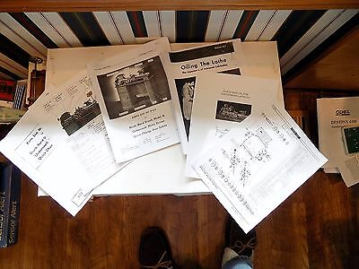 South Bend 9 A, B, & C Lathe 77 Page Instructions Oiling, Parts, Quick Change
