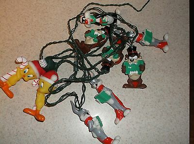 Looney Toons Vintage Christmas Lights 1997 Bugs Bunny Taz Tweety Bird Sylvester