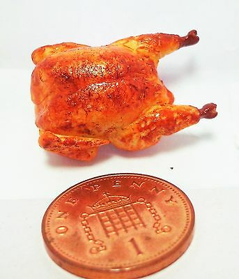 1:12 Scale Hand Made Roast Chicken  Dolls house Miniatures Food