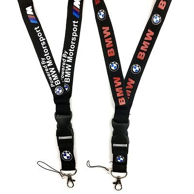 Universal Car Logo Neck Strap Lanyard Keyring Key Chains Cellphone Band for BMW