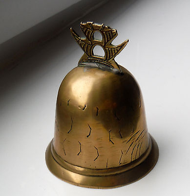 Antique Chinese Brass Table Pagoda/temple Bell  **