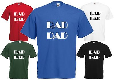 1f7b08a2c Rad Dad T Shirt Father Top Fathers Day Daddy Papa Funny Radical Birthday  Gift