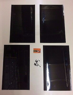 Black Rally Motorsport Mudflaps 50cm x 30cm 3mm MSA x 4 - With Fittings