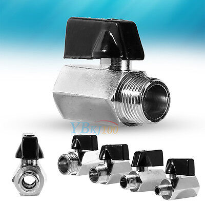 "Male/Female Thread Air Compressor Hose Mini Brass Ball Valve 1/2"" 3/8"" 1/4"" 1/8"""