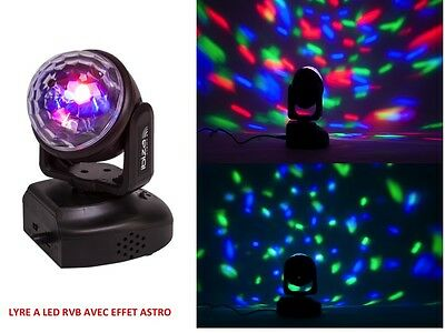 Lyre 6 Led 3W Effet Astro Rayons Multi-Couleurs  Télécommande Magic Ball Ibiza