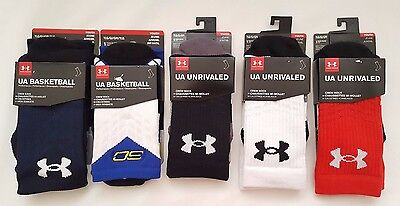 Nwt Under Armour Youth  Boys Crew Sock 1Pair  Ylg Shoe Size 1-4