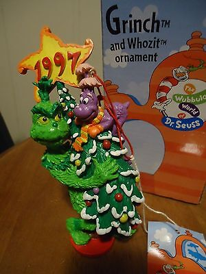 Dr. Seuss Grinch And Whozit Ornament Jim Henson With Original Box 1997