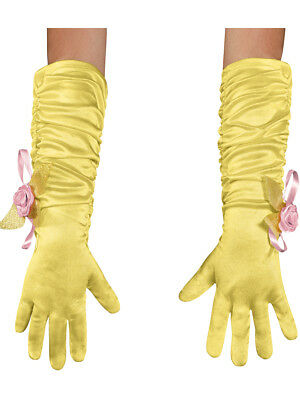 Girls Toddler Disney Belle Beauty And The Beast Gold Gloves Costume Accessory