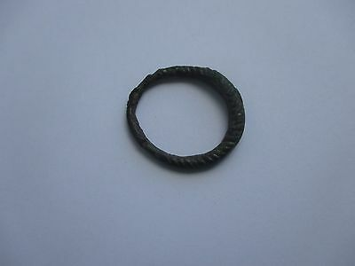 Twisted bronze Viking finger ring . c 8-10 AD. Kievan Rus.