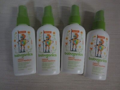 Babyganics Natural Insect Repellent - 4 - 2 Oz Bottles - Exp 03/2019