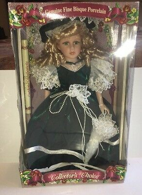 Genuine fine bisque porcelain collector's choice doll