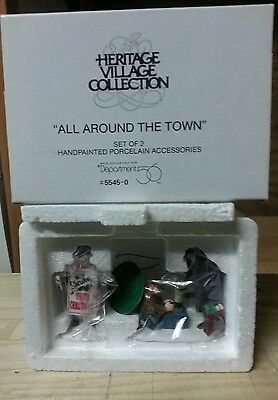 All Around The Town #5545-0 Department 56 Heritage Village New Accessory - New