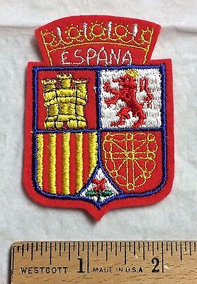 ESPANA Spain Spanish Coat of Arms Souvenir Felt Patch Badge