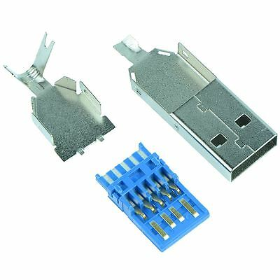 USB 3.0 Type A Rewireable Plug Connector